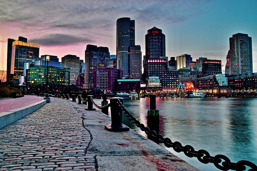 Pink And Blue Boston Photograph