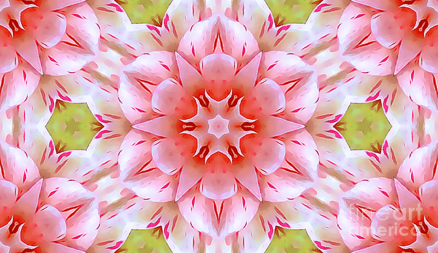 Pink and Green Floral Abstract by Tracy Ruckman