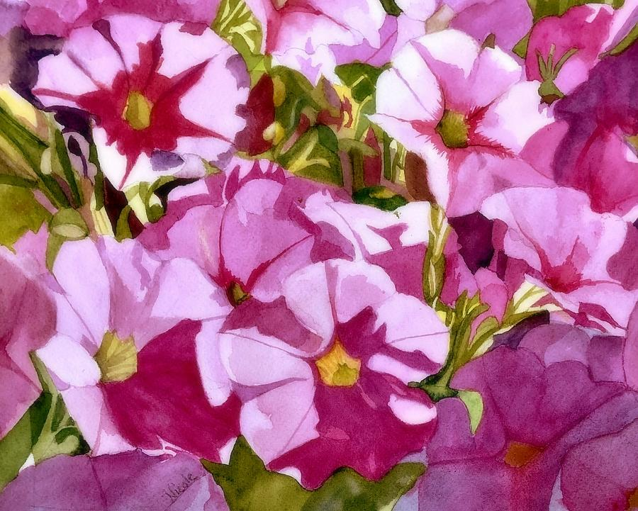 Pink Annuals Painting