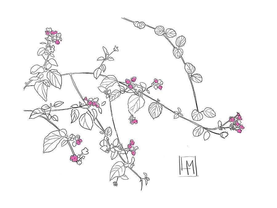 Pink Blooms Digital Art