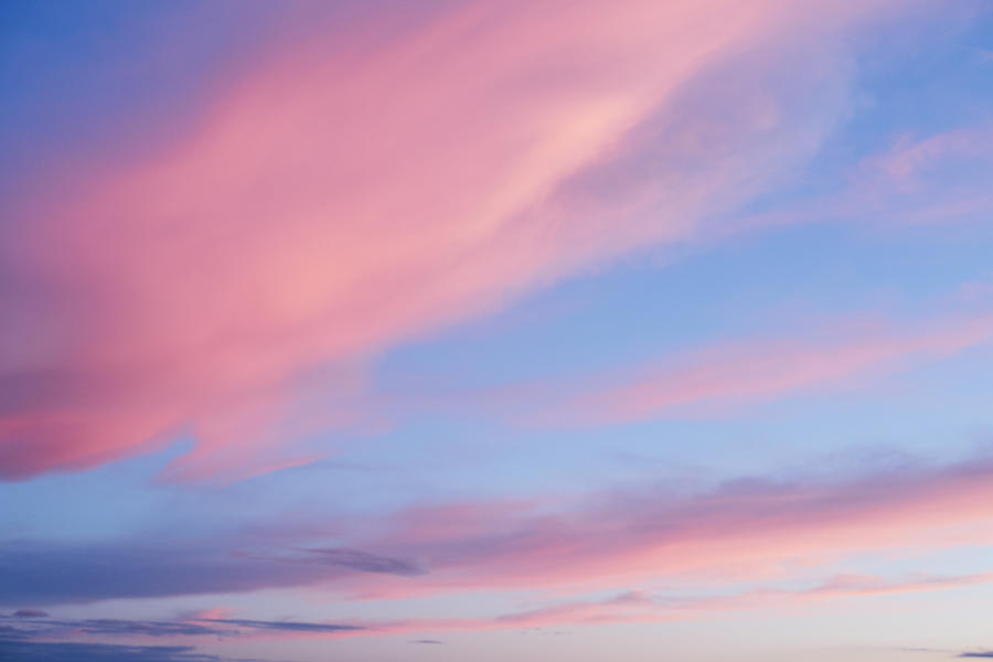Pink clouds at sunset Photograph by Gary Yeowell