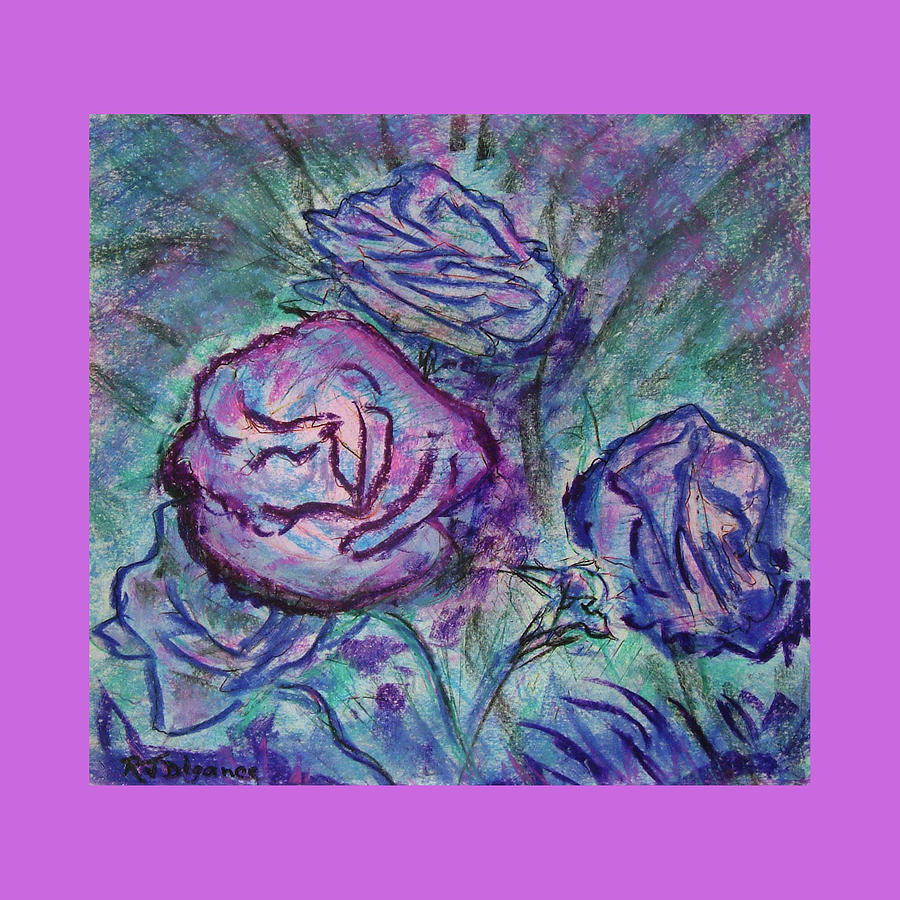 Pink Edged Roses Painting