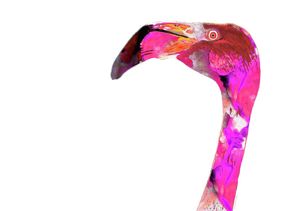 Flamingo Painting - Pink Flamingo - Tropical Art - Sharon Cummings by Sharon Cummings