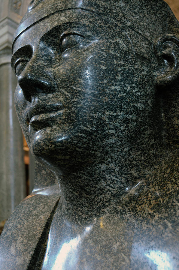 Pink Granite Sphinx Portrait Vatican Museums Rome Italy by Shawn O'Brien