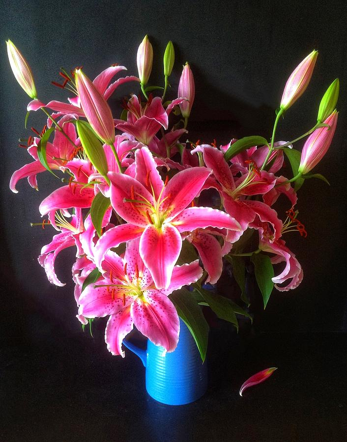 Pink Grapefruit Lily Bouquet Photograph