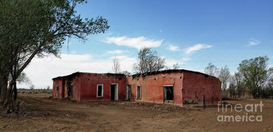 Pink House Garcia Colorado Digital Art