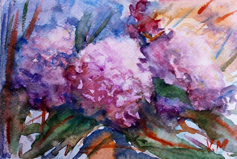 Pink Hydrangeas Painting