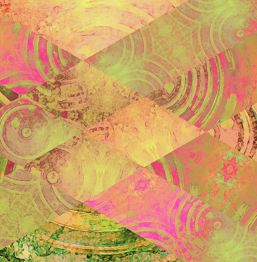 Pattern Digital Art - Pink Patch by Krista Droop