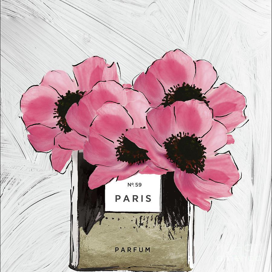 Pink Peony Perfume Painting