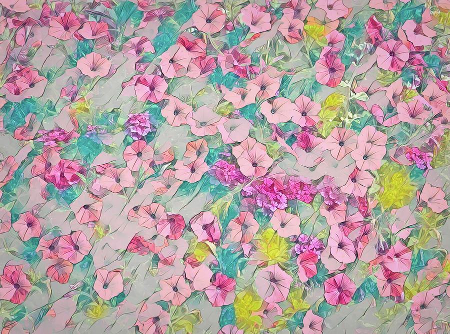 Petunias Digital Art - Pink Petunias by Marv Vandehey