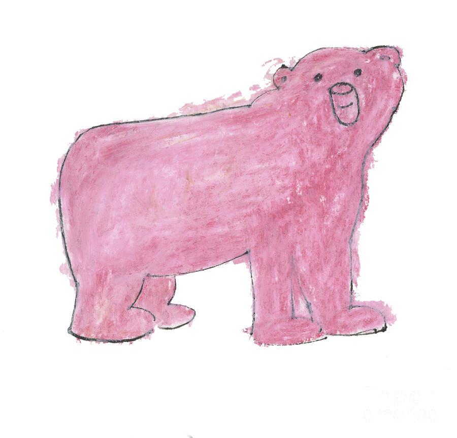 Pink Polar Bear by Mike Mooney
