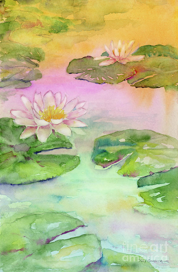 Pink Pond Painting