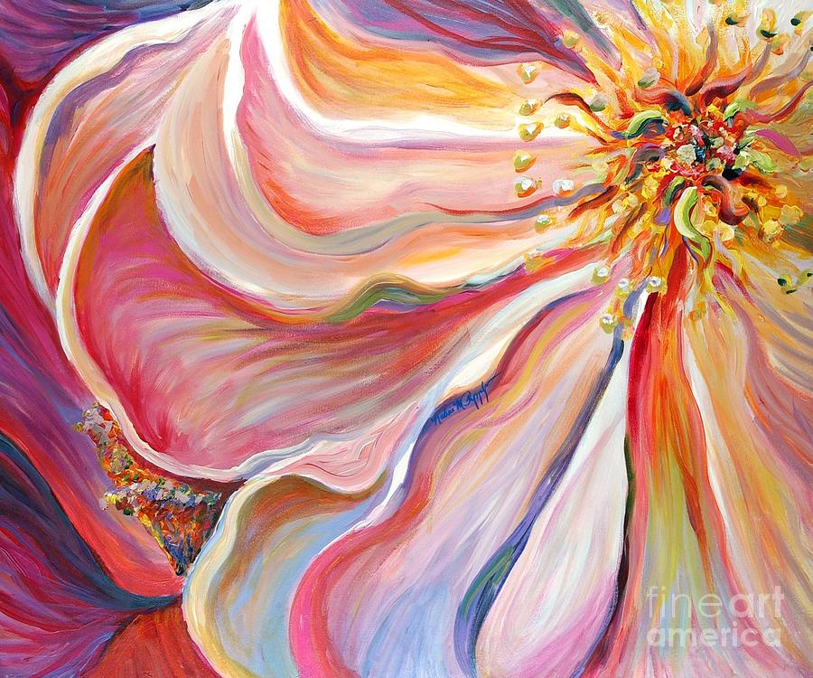 Pink Flower Painting - Pink Poppy by Nadine Rippelmeyer