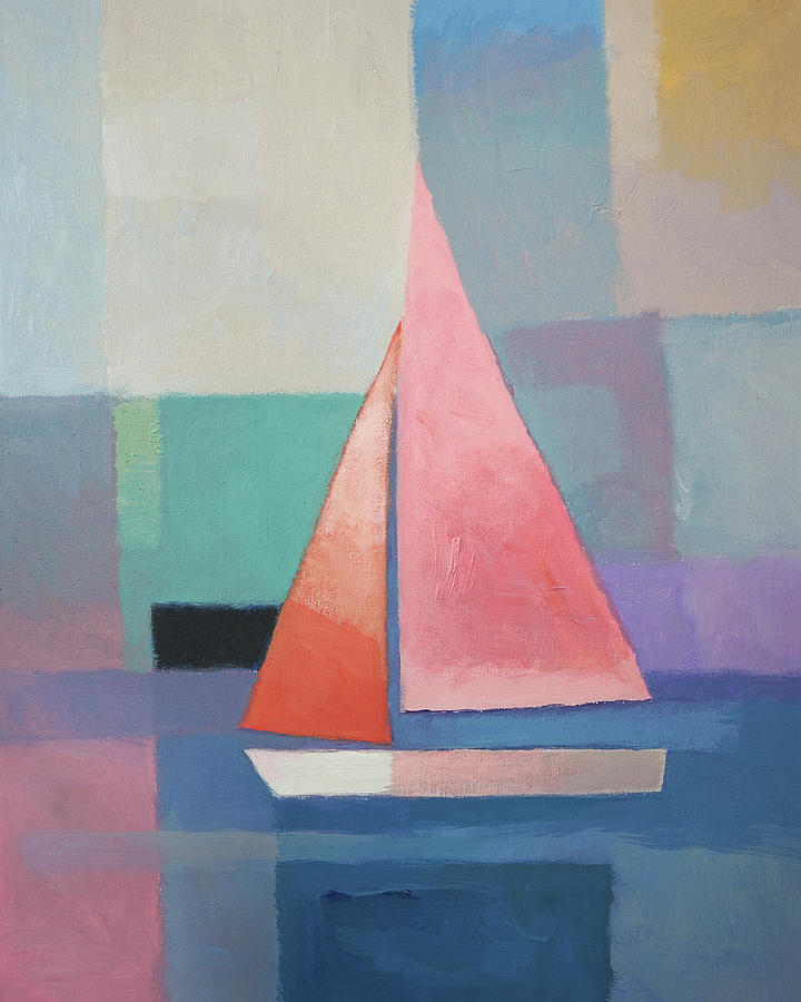 Pink Sailboat by Lutz Baar