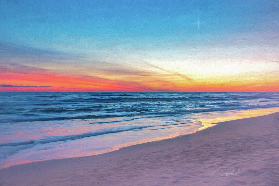 Pink Sands Twilight by Michael Campbell