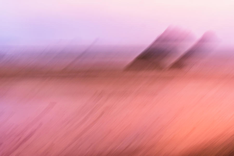 Pink Seascape Abstract Photograph