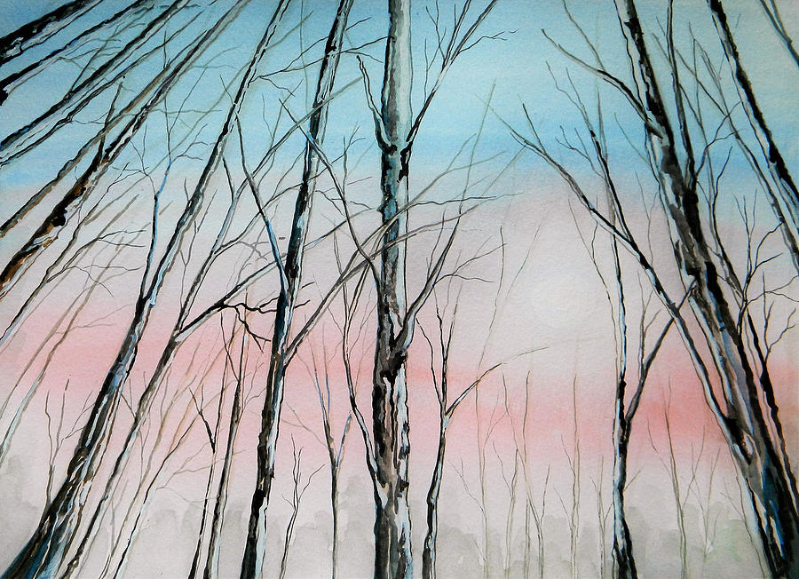 Pink Painting - Pink Sky by Judy Horan
