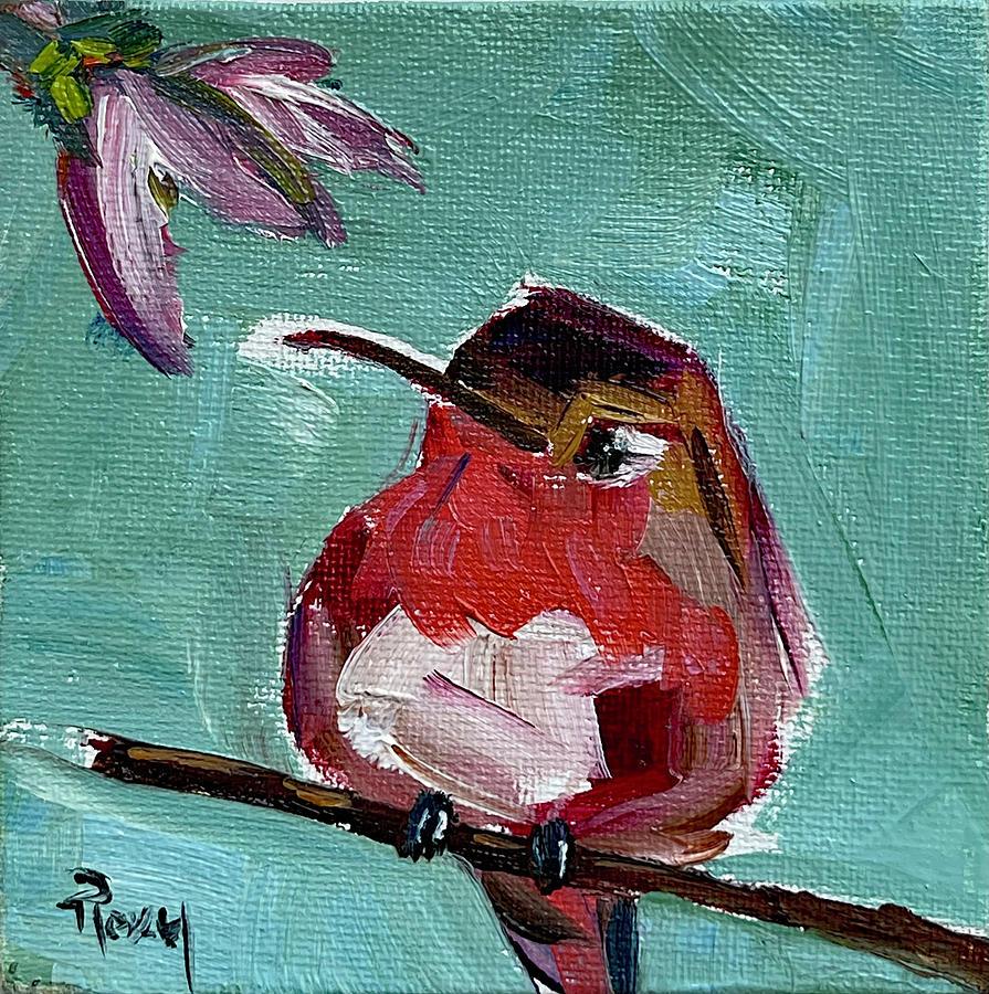 Pink Throat Hummingbird Painting