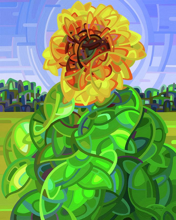 Abstract Painting - Pinwheel by Mandy Budan