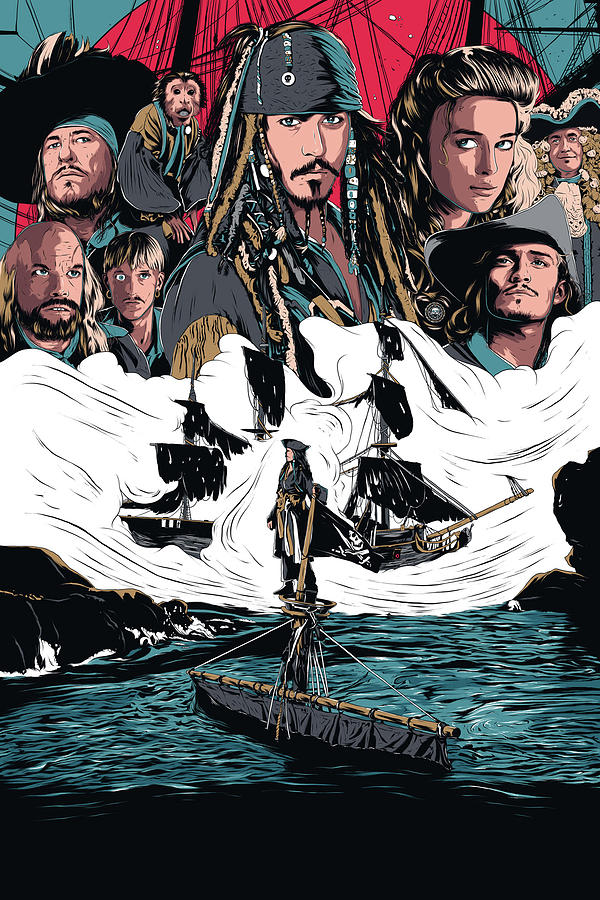 Pirates Of The Caribbean The Curse Of The Black Pearl 2003 Digital Art By Geek N Rock