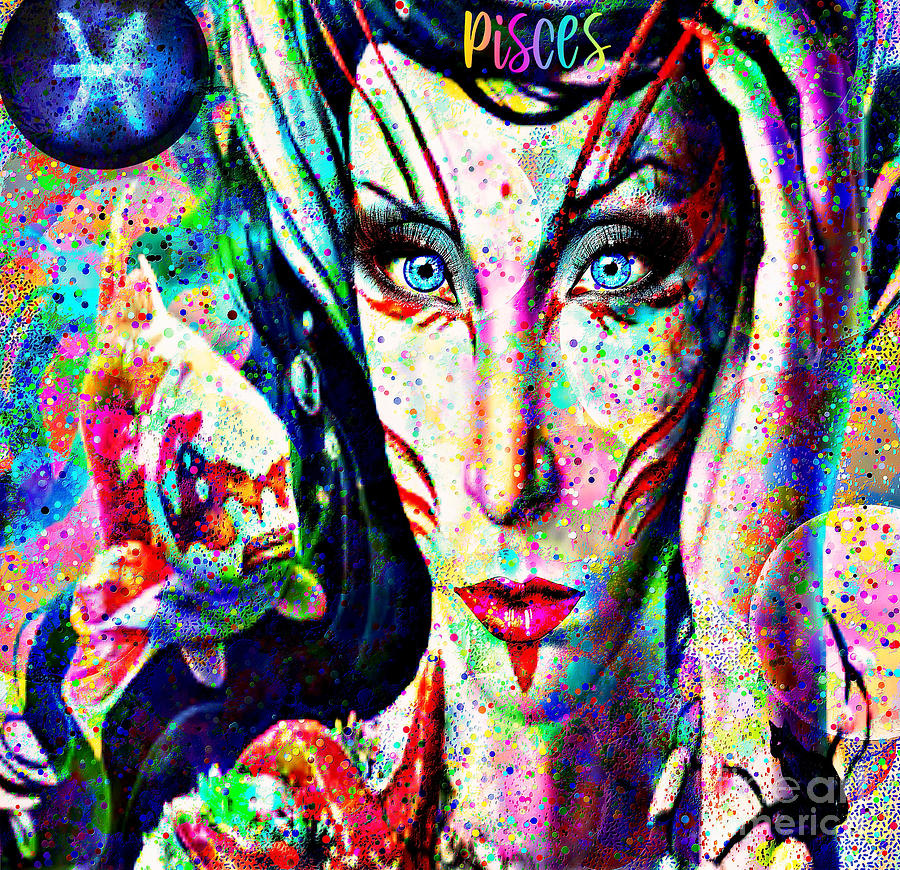 Pisces Zodiac Art Digital Art