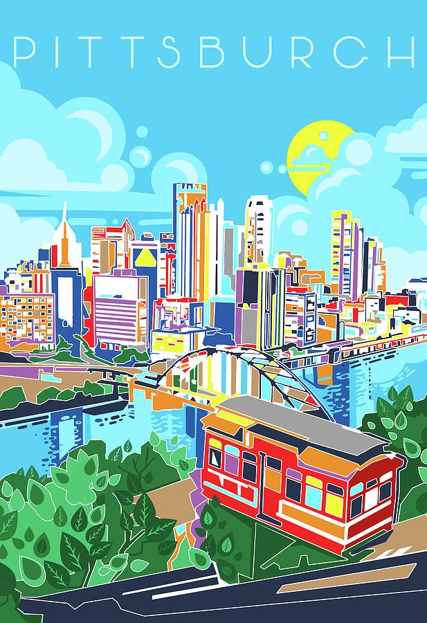 Pittsburgh Digital Art - Pittsburgh City Modern by Bekim M