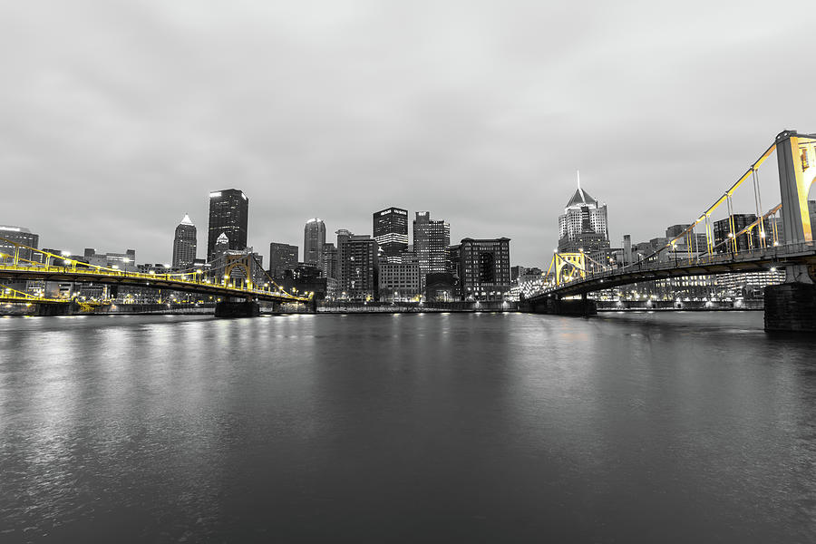 Pittsburgh Selective Color Photograph