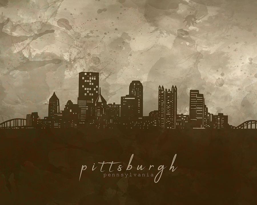 Pittsburgh Skyline Panorama 4 Digital Art