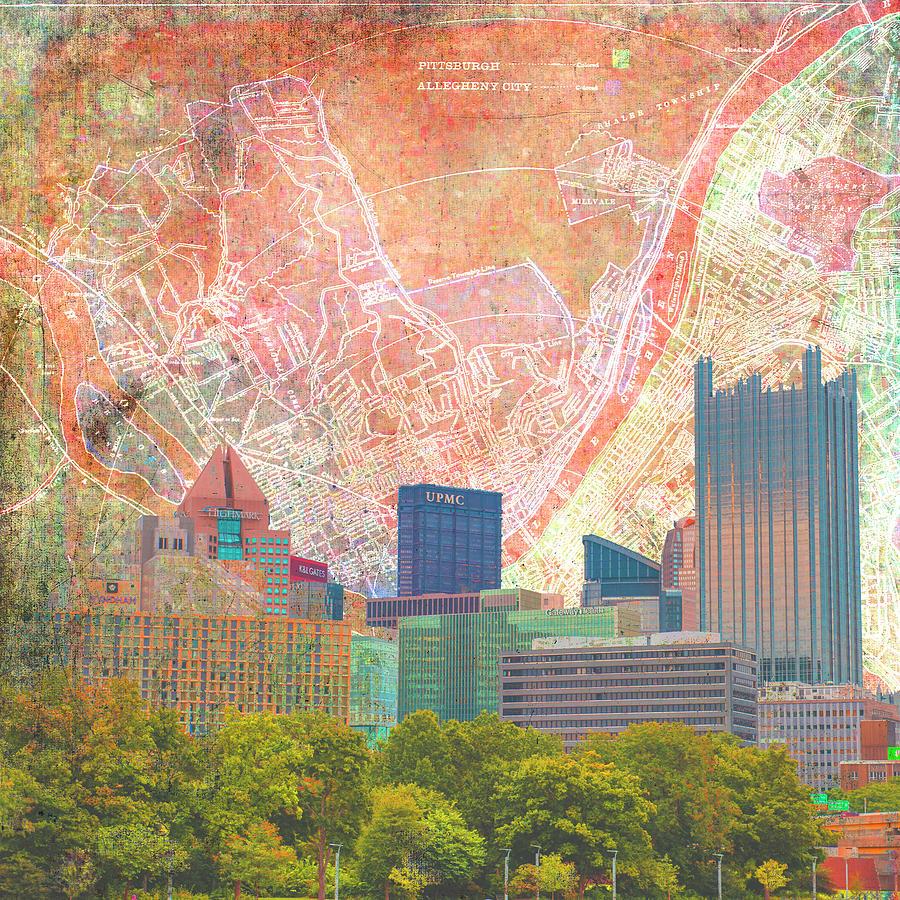 Pittsburgh Vintage Sky Digital Art