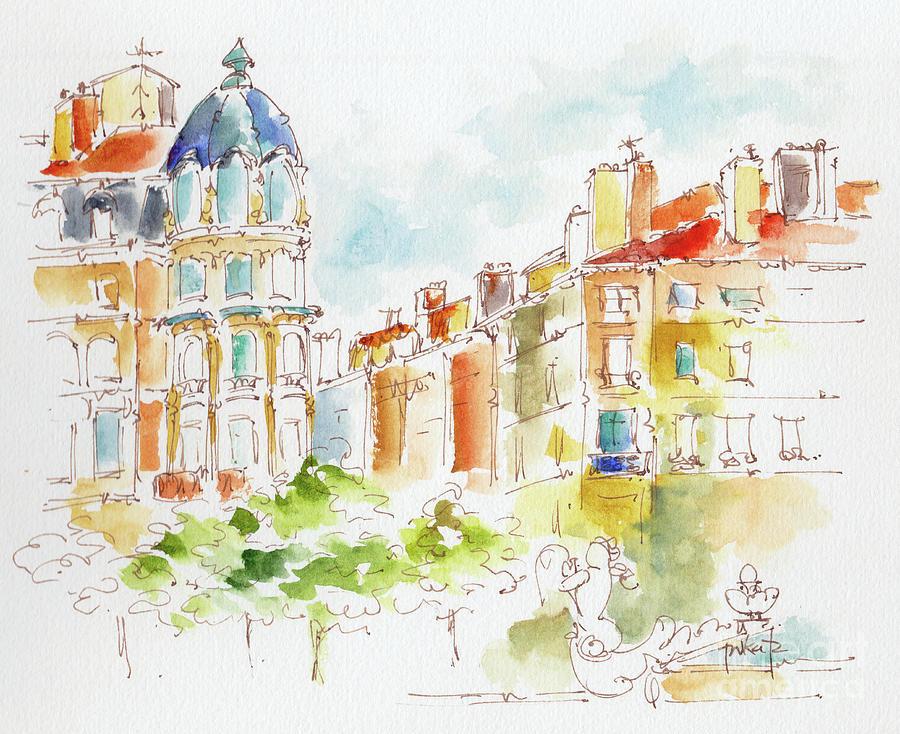 Place Des Jacobins Lyon by Pat Katz