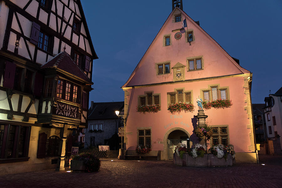 Place Turenne in Turckheim at nightfall by RicardMN Photography