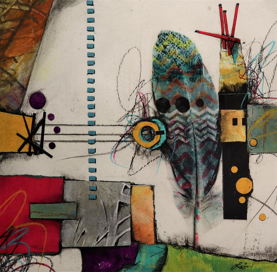 Shapes Mixed Media - Placement Challenge  by Laura Lein-Svencner