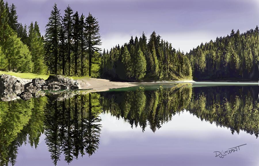 Placid Lake by David Luebbert