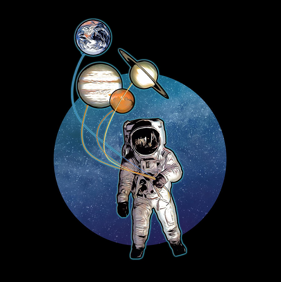 Planet Balloons Digital Art