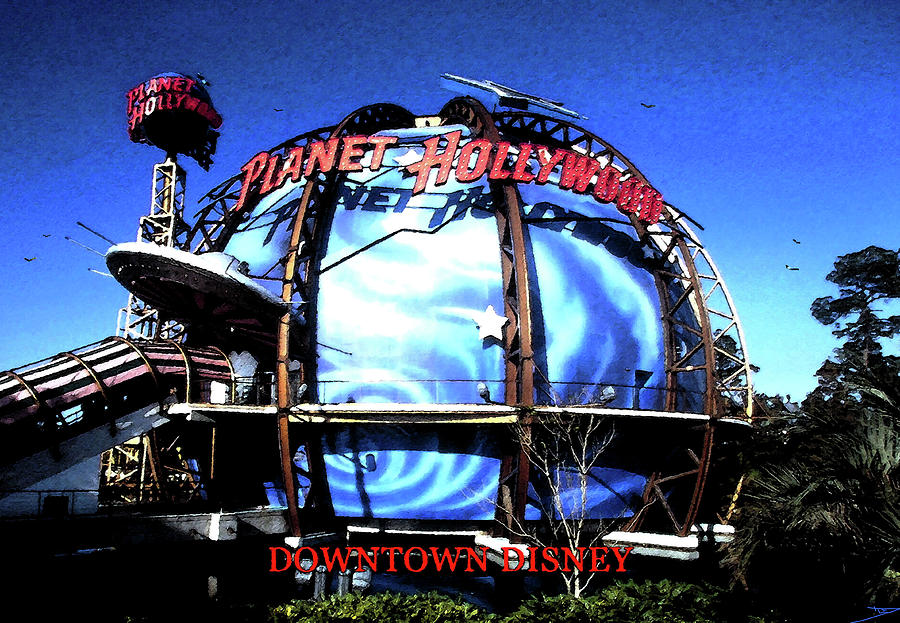 Planet Hollywood Downtown Disney 1990s Painting