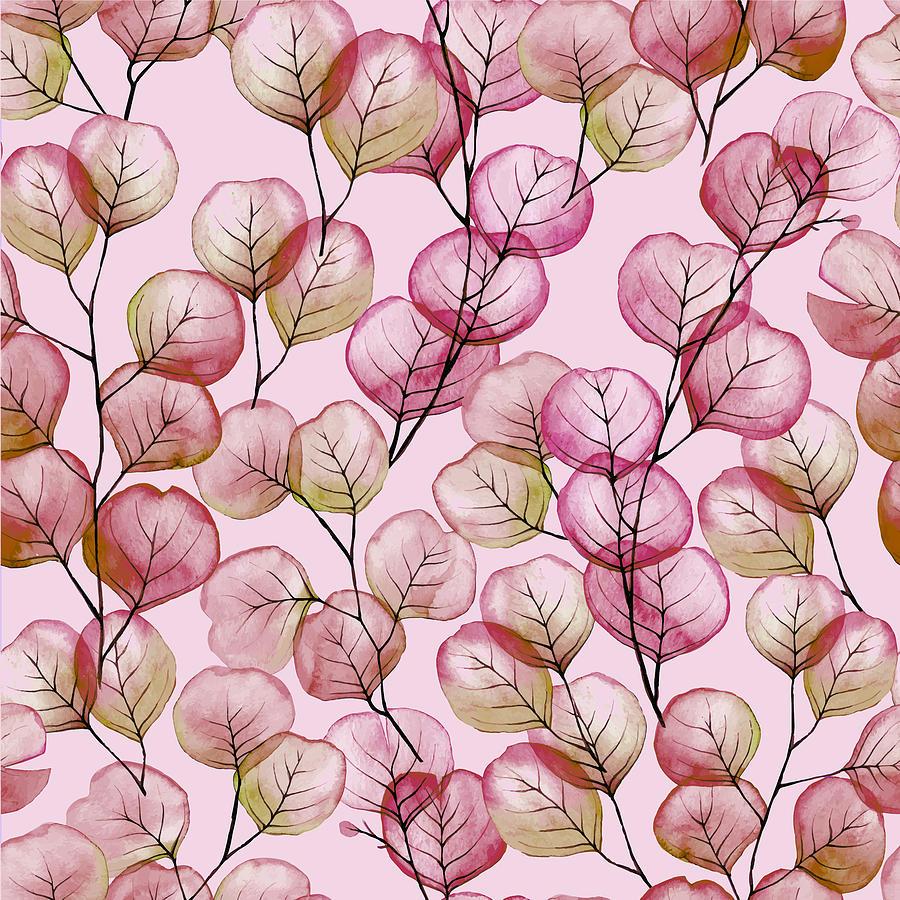 Plants Zen Garden Botanical Plants Nature Outdoors Print Pink Rose Painting
