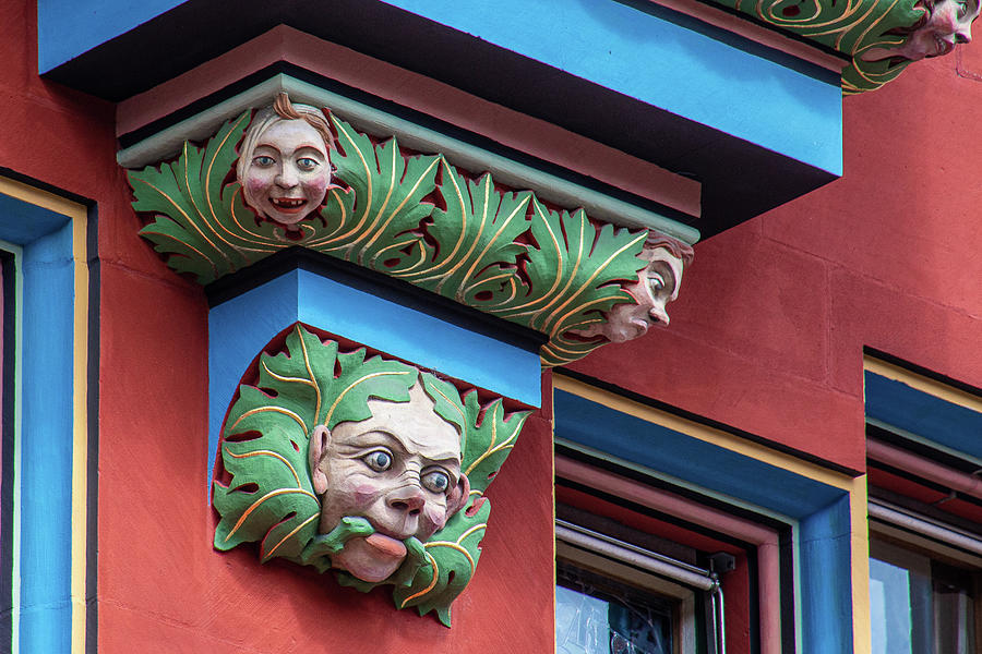 Basel Photograph - Playful Frescoes on the Basel City Hall by Laura Smith