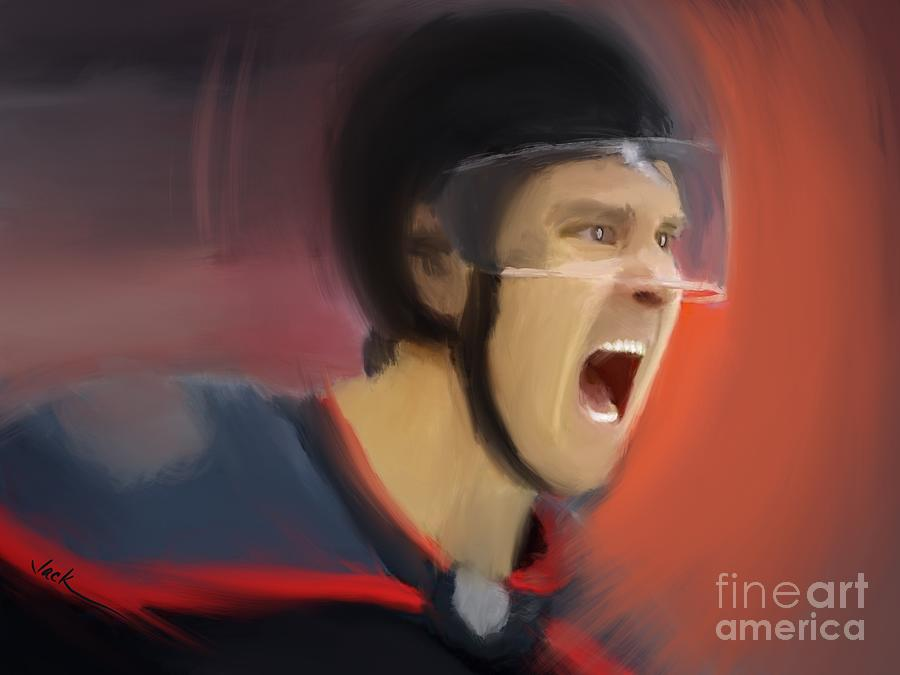 Nhl Painting - Playoff Emotions by Jack Bunds