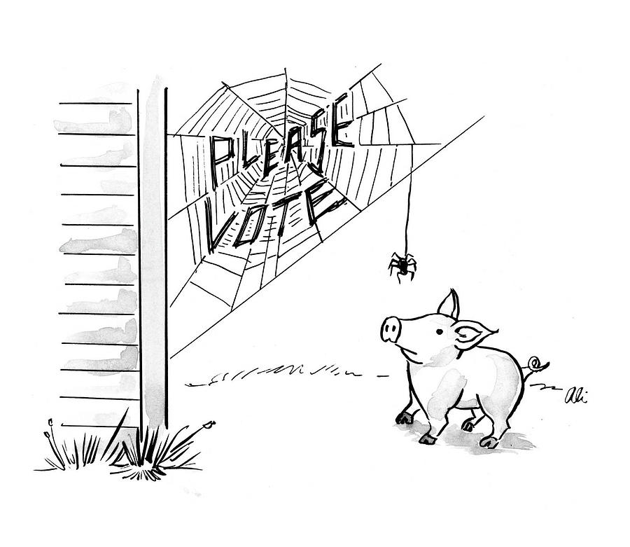 Please Vote Drawing by Ali Solomon