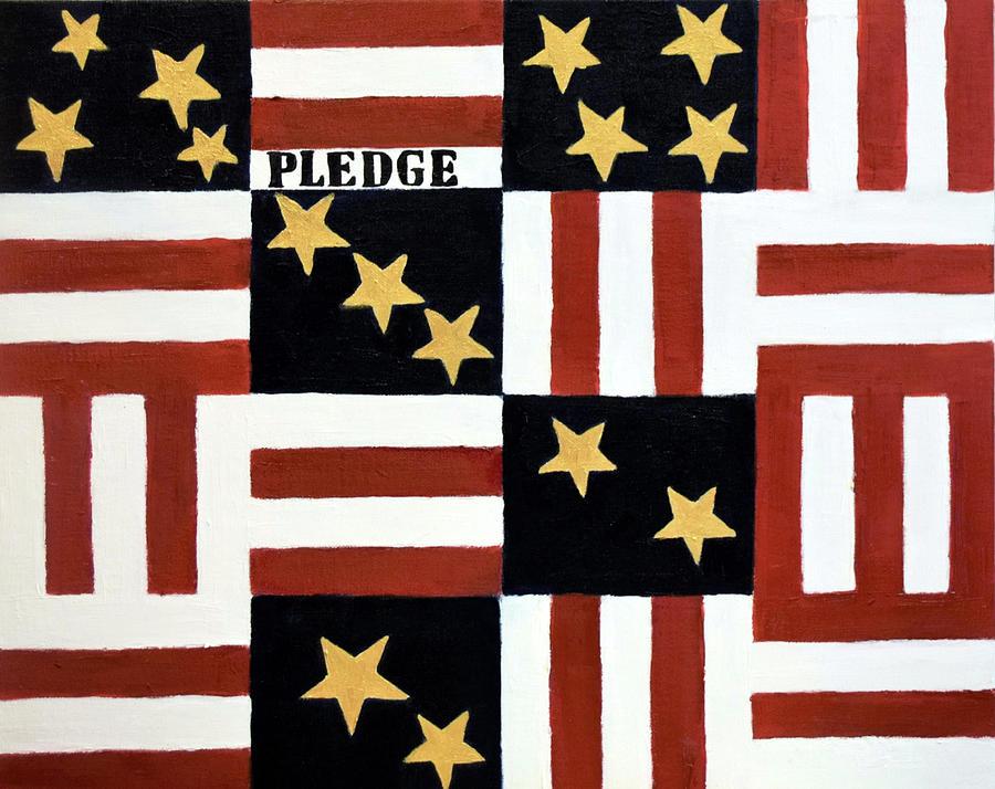 Flag Painting - Pledge by Charla Van Vlack