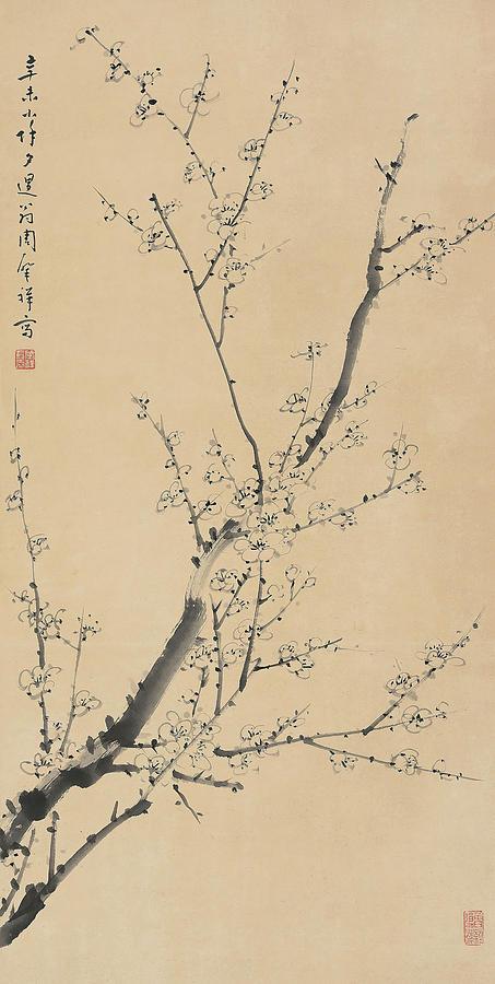 Zhao Painting - Plum Blossom In       by Zhao Xiang Zhou