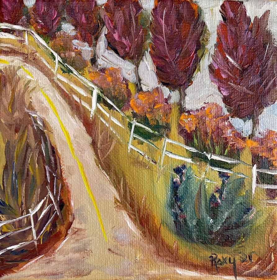 Plum Trees On Pauba Temecula Landscape Painting