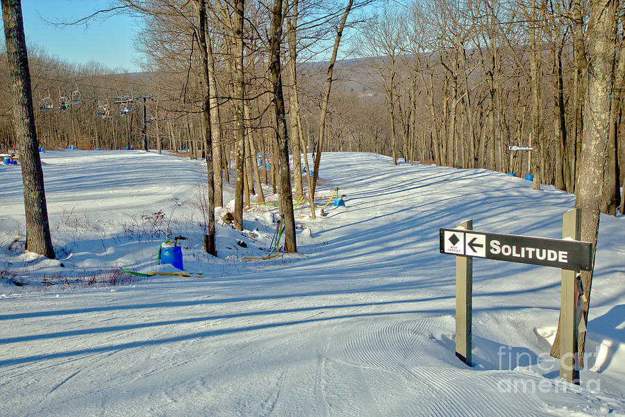 Poconos Solitude Ski Slope by Adam Jewell