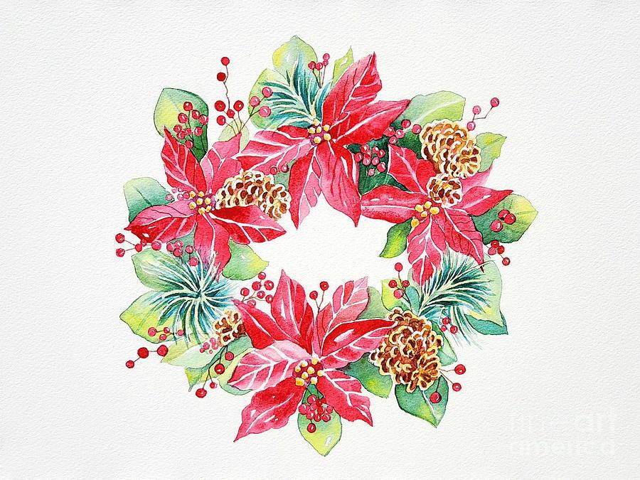 Poinsettia Wreath by Deborah Ronglien