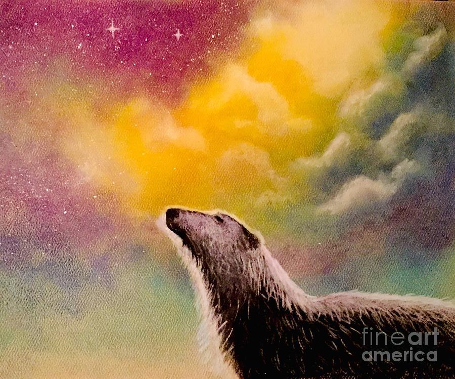 Polar Photograph - Polar Bear Night Sky by Roxanne Stein