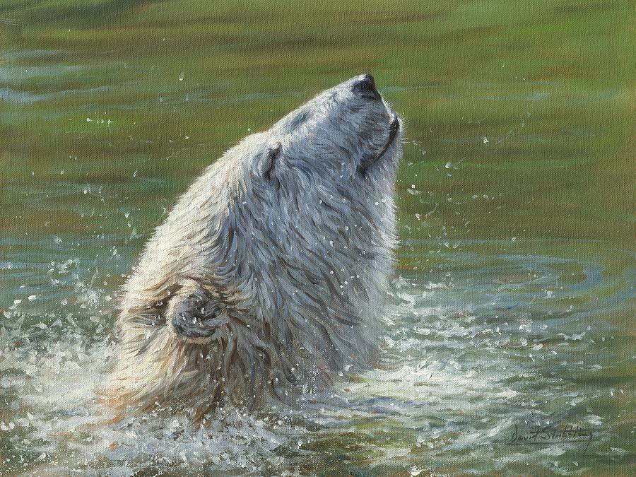 Polar Bear Splash Painting