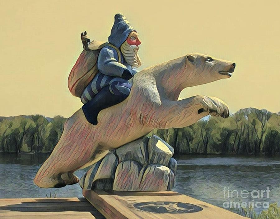 Polar Santa by Leo and Marilyn Smith
