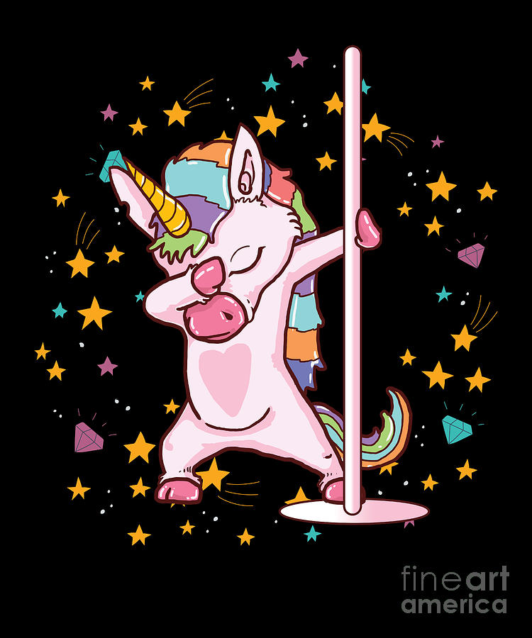 Pole Dancing Unicorn Cute Funny Pole Dance Gift Digital Art By Thomas Larch
