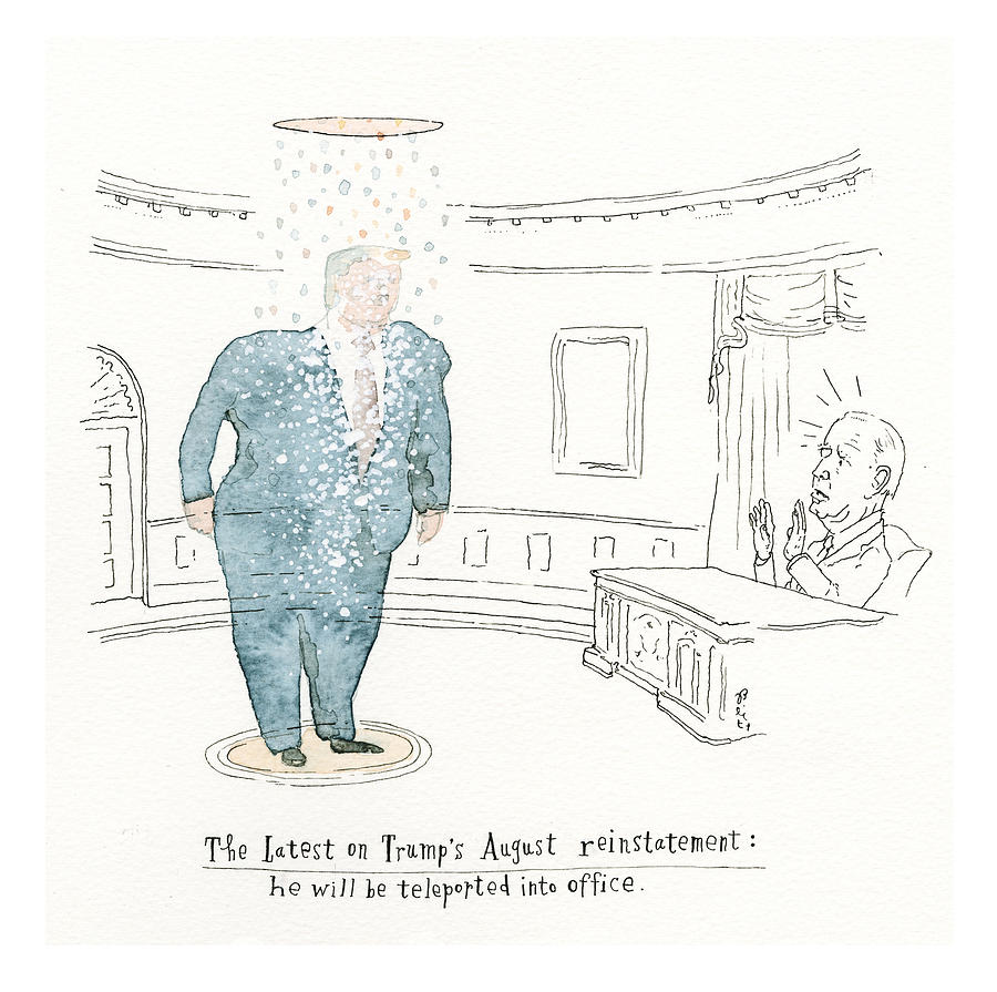 Political Science Fiction Painting by Barry Blitt