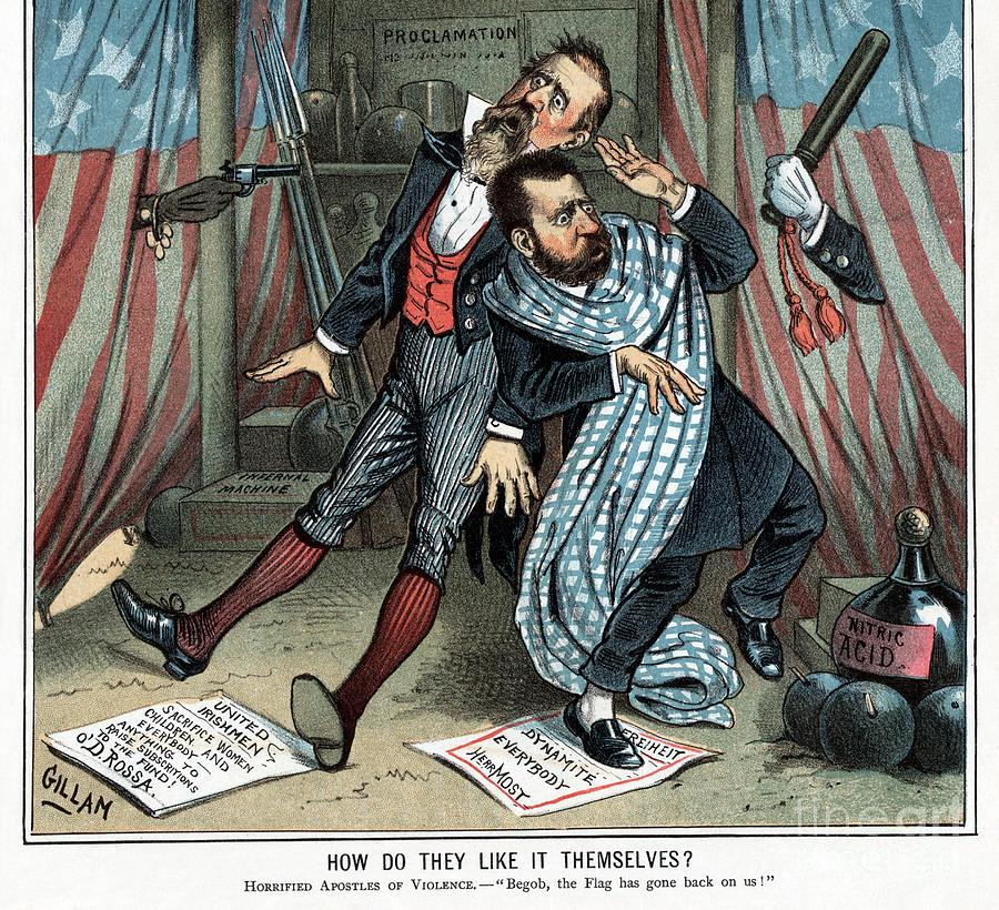 Political Violence Cartoon, 1885. by Bernhard Gillam